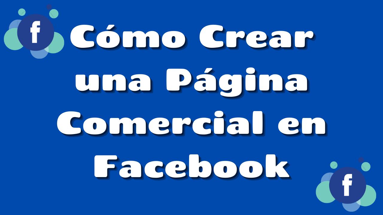 Página comercial Facebook